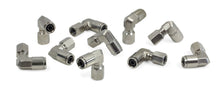 "1/8"" NPT(F) to 3/8"" Airline 90 Degree Swivel Elbow Fitting (10 pcs) DOT Approved"
