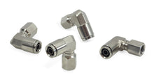"1/8"" NPT(F) to 3/8"" Airline 90 Degree Swivel Elbow Fitting (4 pcs) DOT Approved"
