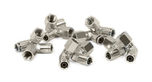 "1/4"" NPT(F) to 3/8"" Airline 90 Degree Swivel Elbow Fitting (10 pcs) DOT Approved"