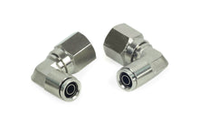 "3/8"" NPT(F) to 3/8"" Airline 90 Degree Swivel Elbow Fitting (2 pcs) DOT Approved"