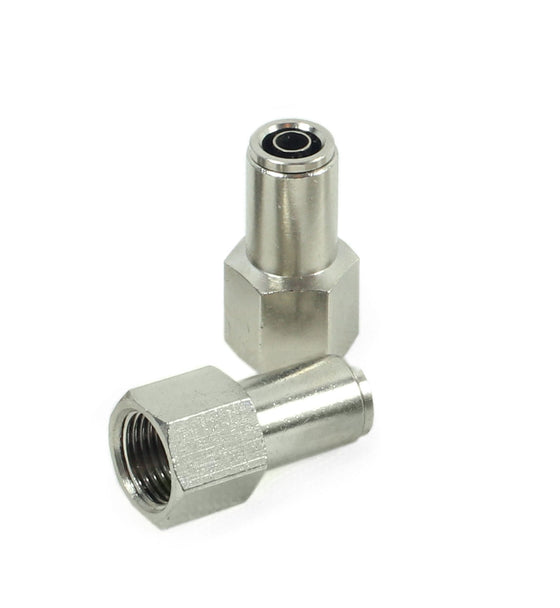 "3/8"" NPT(F) to 3/8"" Airline Straight Fitting (2 pcs) DOT Approved"