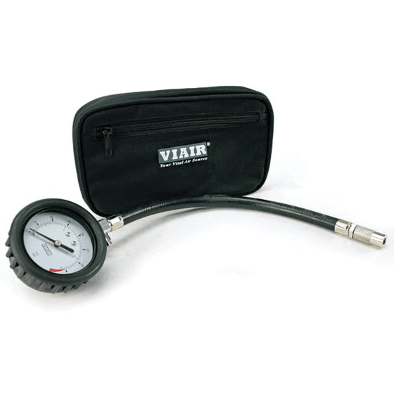 "2.5"" Tire Gauge w/Hose (0 to 15 PSI, with Storage Pouch)"