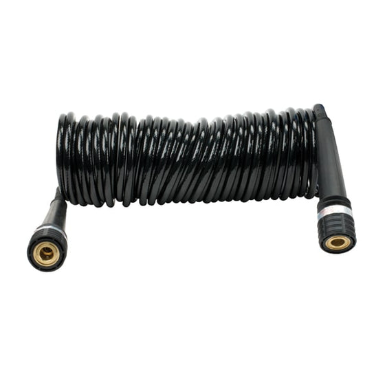 30Ft. Coil Hose, PU, Inside braided, Quick Connect Coupler on both ends