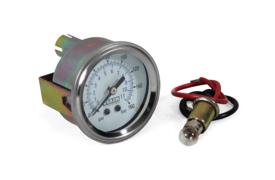 "2"" Single Needle Gauge (White Face, Illuminated, 160 PSI)"
