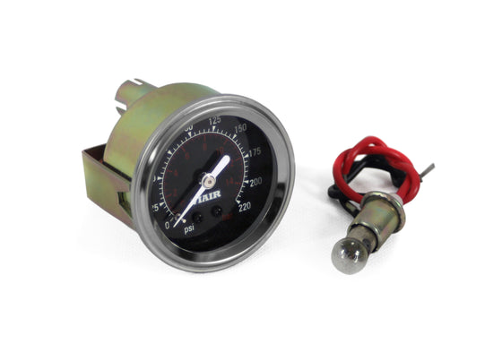 "2"" Single Needle Gauge (Black Face, Illuminated, 220 PSI)"