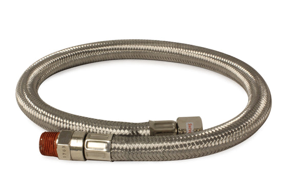 "24"" by 3/8"" S.S. Leader Hose (3/8"" F to 3/8"" M, NPT, Swivel)"