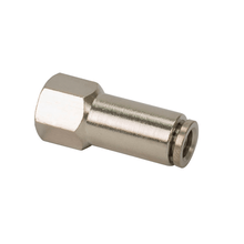 "1/8"" NPT(F) to 3/8"" Airline Straight Fitting (2 pcs) DOT Approved"