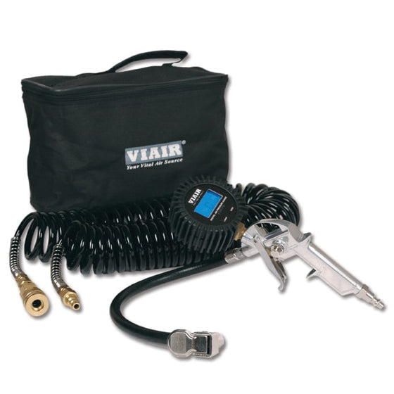 "Inflation Kit w/2.5"" Digital Tire Gun, Reads Up to 180 PSI,  30' Hose, Carry Bag"