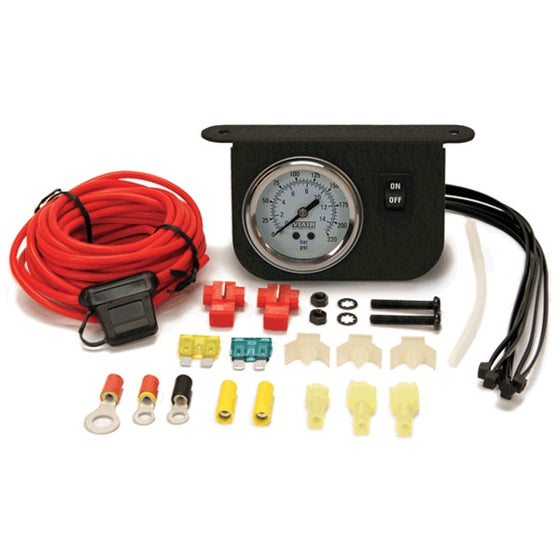 Illuminated Dash Panel Gauge Kit, White Face (200 PSI, 30 Amp)