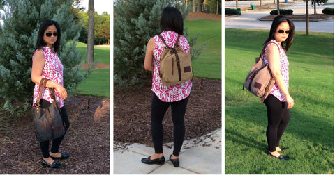 3 in 1 Convertible Backpack Purse for Women