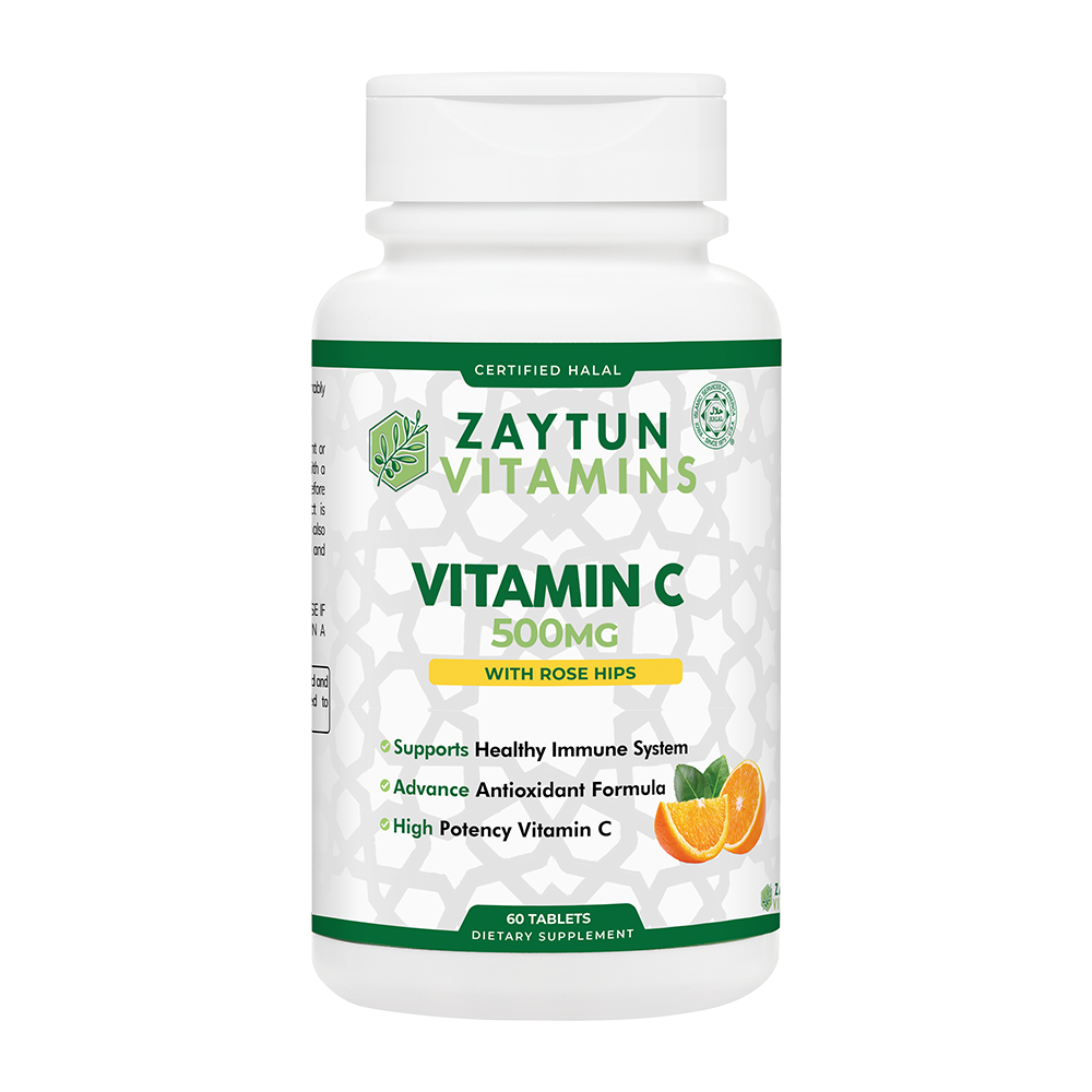 Halal Vitamin C 500mg Tablets