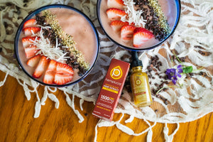 Strawberry Banana Smoothie Bowls – CBD Recipe