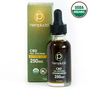 Hemplucid USDA organic full-spectrum CBD in Hemp Seed Oil 250mg