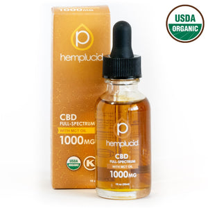 Hemplucid USDA organic full-spectrum CBD in MCT Oil 1000mg