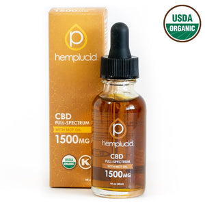 Hemplucid USDA organic full-spectrum CBD in MCT Oil 1500mg