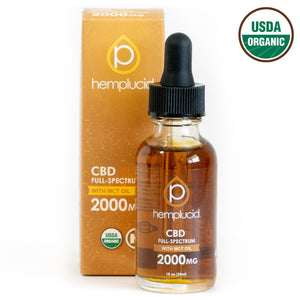 Hemplucid USDA organic full-spectrum CBD in MCT Oil 2000mg