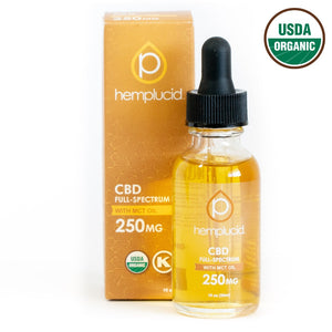 Hemplucid USDA organic full-spectrum CBD in MCT Oil 250mg