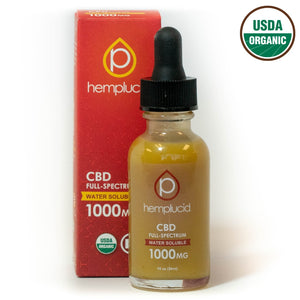 Hemplucid USDA organic full-spectrum water soluble CBD 1000mg
