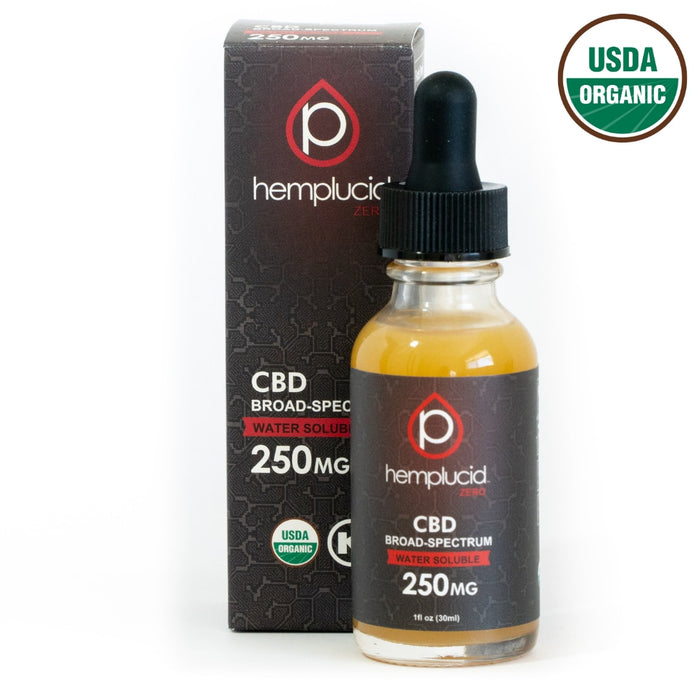 USDA Organic Hemplucid Zero Broad-Spectrum CBD Water Soluble