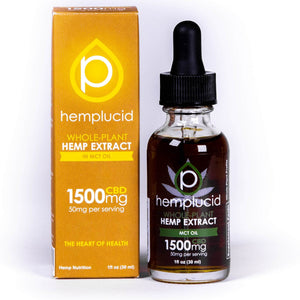 Hemplucid Full-Spectrum CBD in MCT Oil Tincture