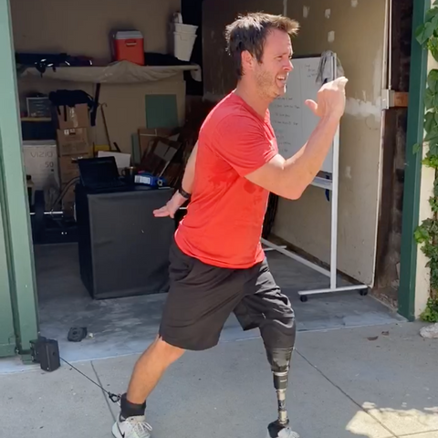 Los Anglese Dodgers Director of Performance Rehab Andrew Hauser using the ANCORE Trainer