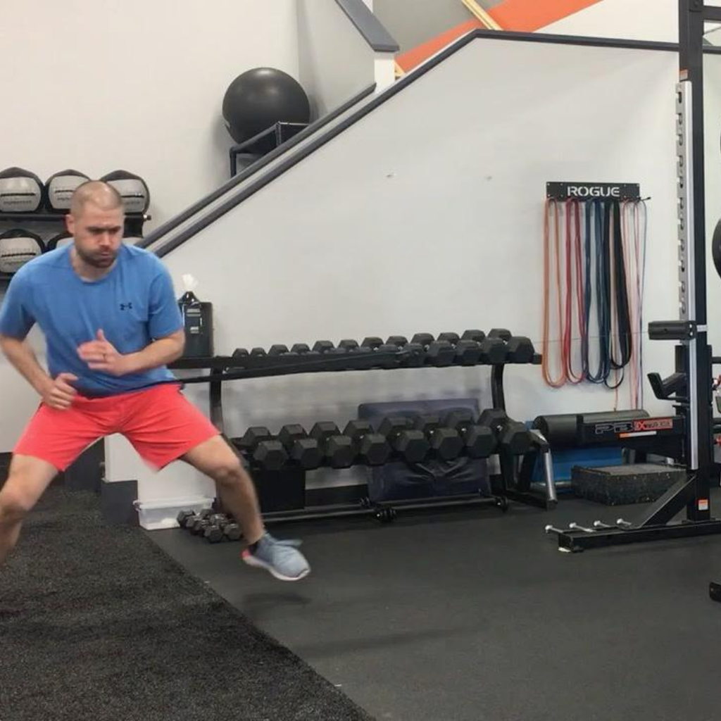 ancore trainer being used by tim difrancesco in a gym