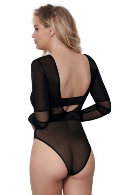 Eloise Low Back Bodysuit Black