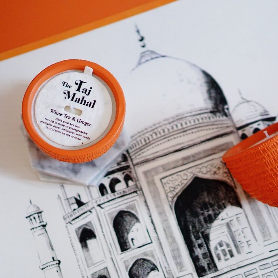 Pass It On Candle (The Taj Mahal)