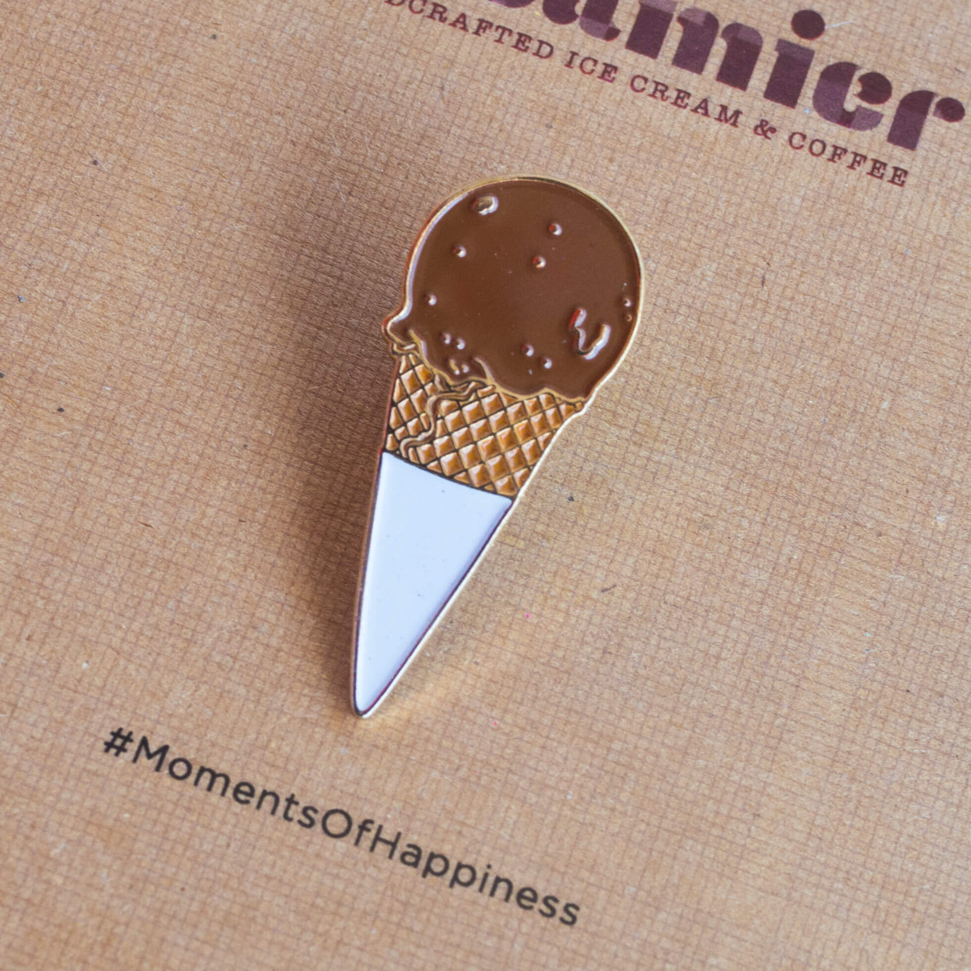 Plain Ole Chocolate Cone Pin