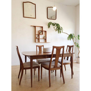 Mid-Century Dining Set with Two Leaves and Four Chairs