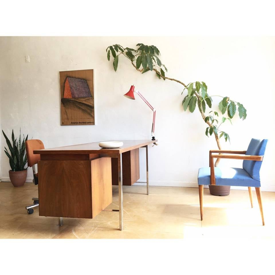 Mid Century Floating Desk by B.L. Marble