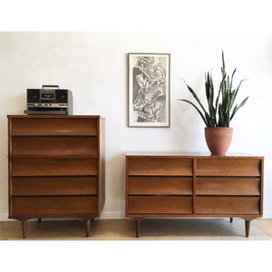 Mid-Century Dresser Set by Johnson Carper