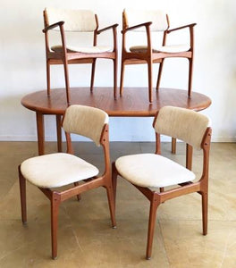 Danish Made Teak Dining Set by Erik Buch