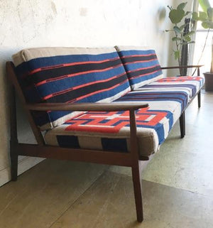 Mid-Century Danish Style Sofa in Pendleton Wool
