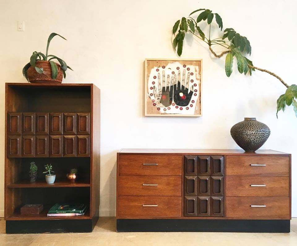 Mid-Century Low Dresser by Lane
