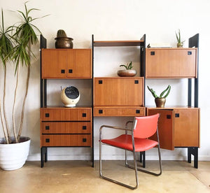 Vintage Teak Shelving Unit