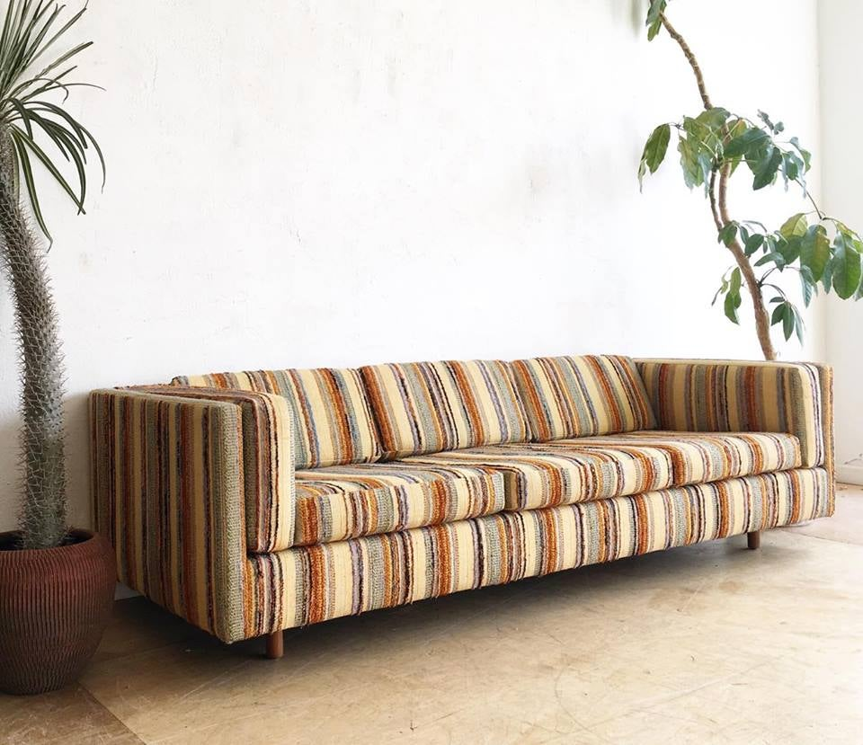 Vintage Striped Harvey Probber Sofa