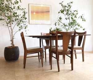 Vintage Dining Set with Four Chairs