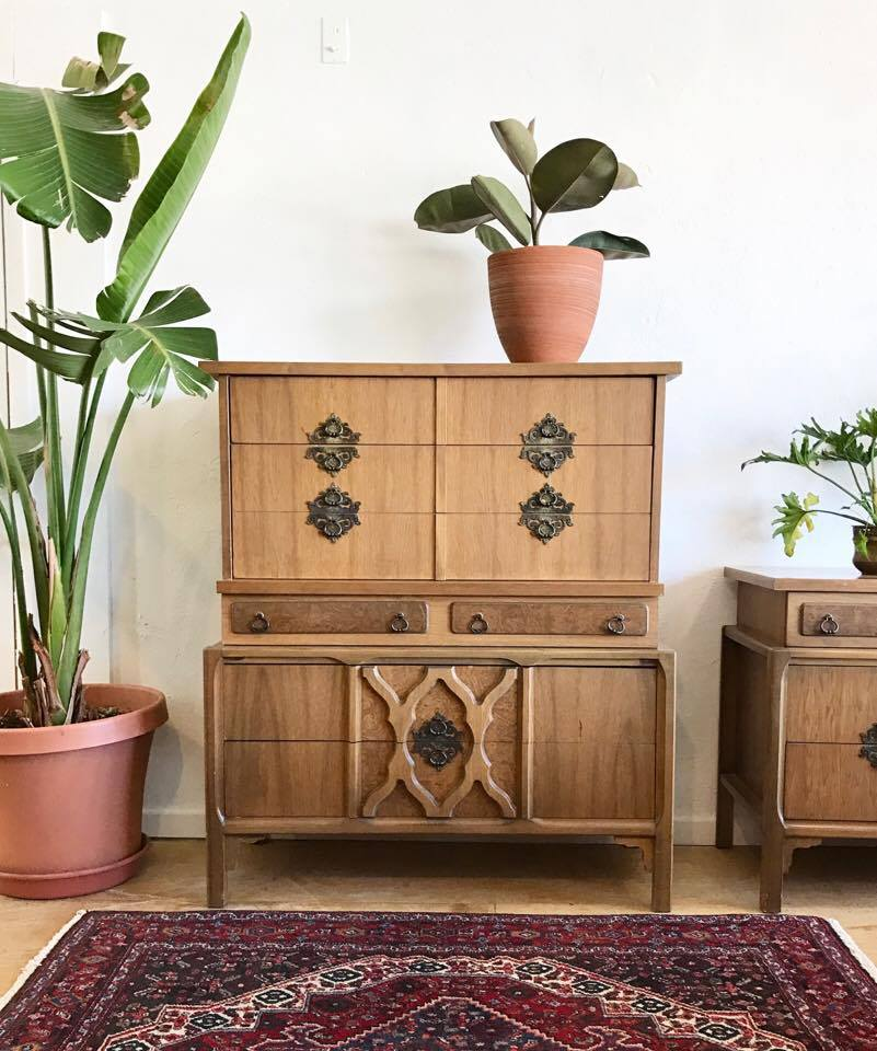 Tall Vintage Moroccan Style Dresser
