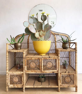 Vintage Wicker Shelf