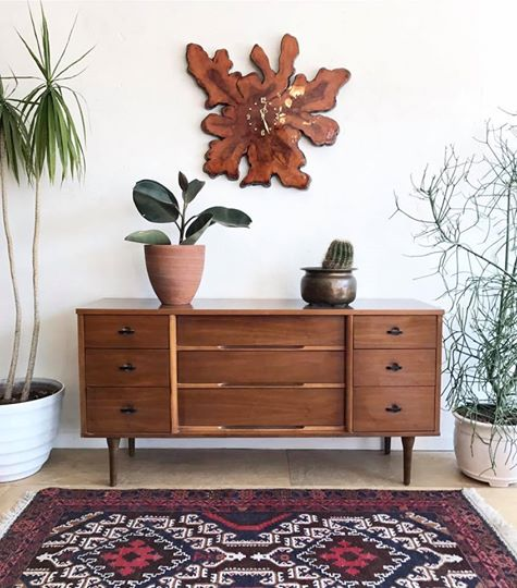 Mid-Century Long Low Dresser