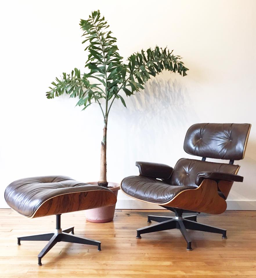 Eames Herman Miller Lounge Chair & Ottoman in Rosewood & Leather