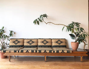 Mid-Century Sofa Upholstered in Pendleton Wool