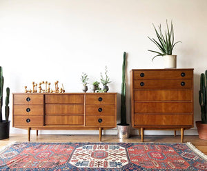 Set of Mid-Century Dressers by Stanley