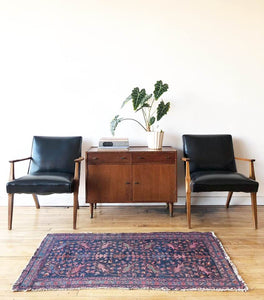 Mid-Century Lounge Chairs in Black