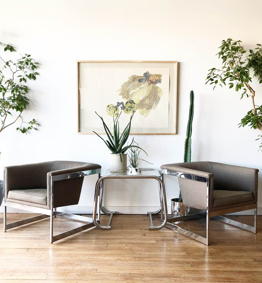 Mid-Century Milo Baughman Club Chairs