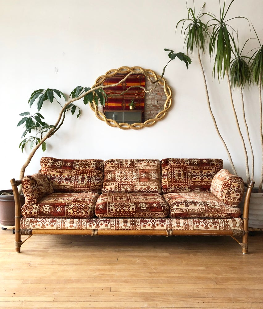 Vintage Moroccan Style Sofa in Orange