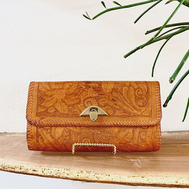 Vintage Western Leather Clutch