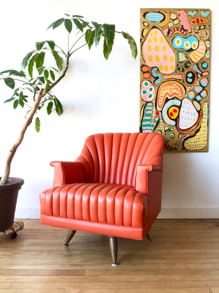 Vintage Orange Chair