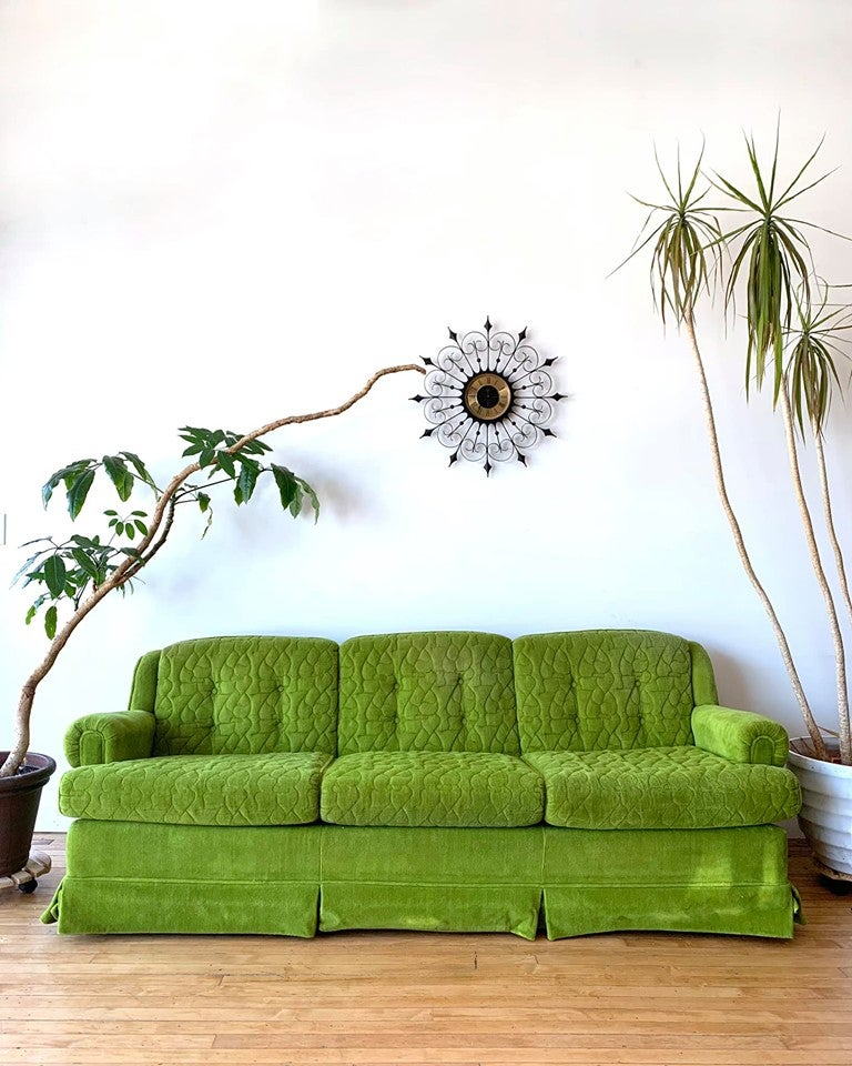 Mid-Century Sofa in Lime